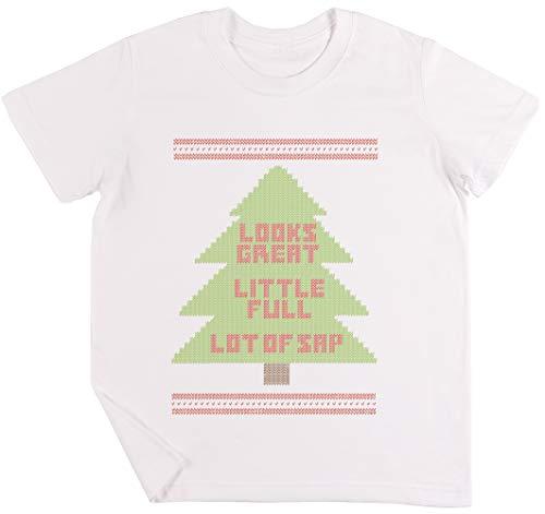 Weihnachten Urlaub Hässlich Sweatshirt Kinder Jungen Mädchen Unisex T-Shirt Weiß
