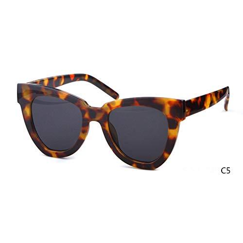 ZRTYJ Sonnenbrille Übergroße Cat Eye Sonnenbrille Frauen Markendesigner Vintage Sunnies Tortoise Shell Cateye Sonnenbrille Shades