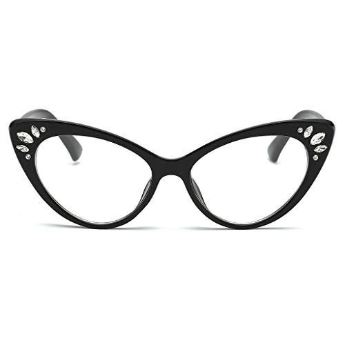 longzjhd Frauen Weinlese Auge Sonnenbrillen Retro Brillen Mode Strahlung Schutz Sunglasses Frame Sonnenbrille Sonnen-Überbrille Sonnenbrille Cat-Eye Designer-Brille Katzenaugen -