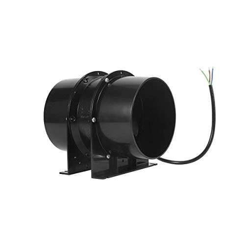 Hon&Guan 150mm Rohrventilator - 323m³/h Metall Kanalventilator Abluftventilator für Wachstumszelte, Badezimmer, Keller, Garage - MEHRWEG