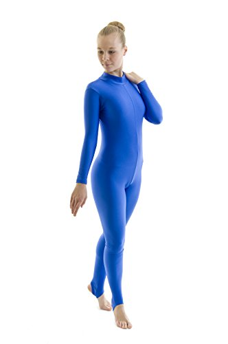 Dance Gear Georgina Women's Nylon Lycra Long Sleeved Polo Neck Catsuit