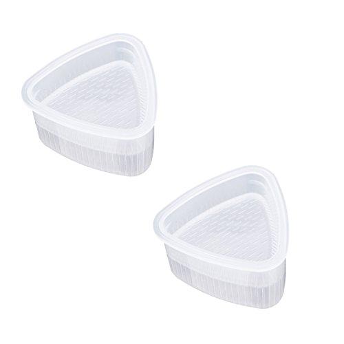 2Pcs / Set Sushi Mold Onigiri Maker Reis Ball Bento Pressen Form DIY Werkzeug Kochen Praktische Werkzeuge (Reis-form)