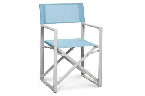 Best 47172202 Chaise régie Messine, crème/Bleu Clair