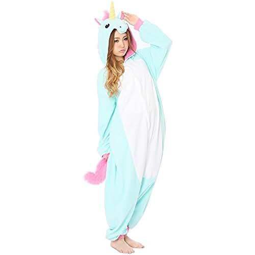 pijama de unicornio kawaii Cliont Animal Licorne Pijamas Kigurumi la Ropa de noche del Traje del Anime de Cosplay Nightclothes de Navidad del Unicornio Onesie