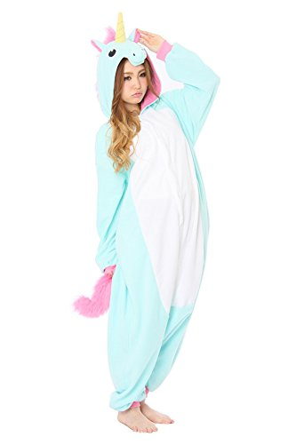 - 314wzEg4kLL - Cliont Animal Licorne Pyjamas Kigurumi Sleepwear Nightclothes Costume Anime Cosplay Christmas Unicorn Onesie