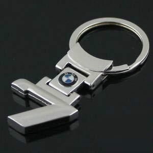 TGH (7ser Schlüsselanhänger Sport Serie 7 Silber für Auto -