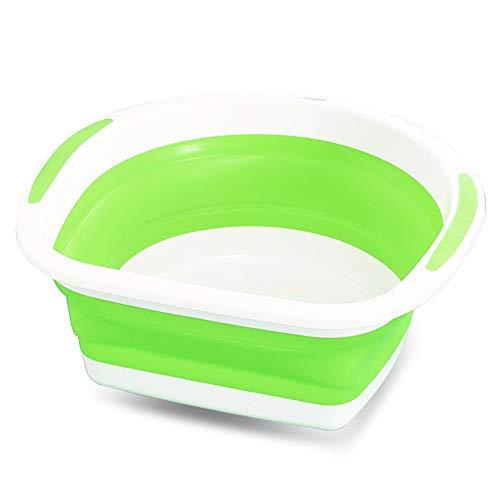 Zhangcaiyun Waschbecken Faltbare Spüle zum Geschirr spülen Beim Camping, Wandern und zu Hause Wasserbecken (Farbe : Grün)