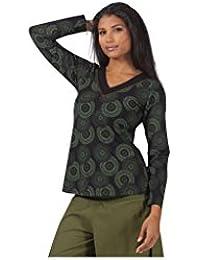 Aller Simplement - T-shirt femme en coton à manches longues col V Aller Simplement TS3000
