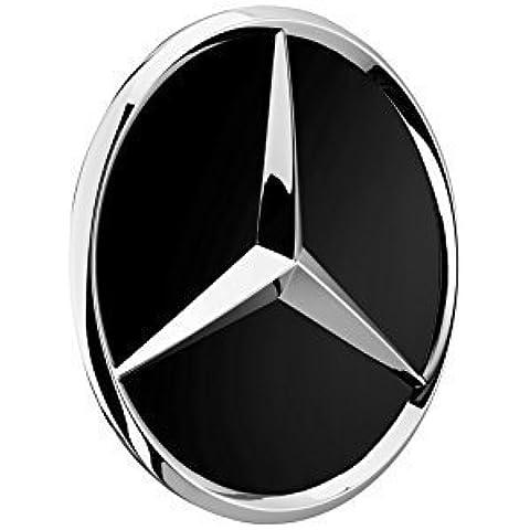 4 x Original Mercedes Benz Cubierta de rueda Cubierta Tapa Tapacubos Cubierta del cubo de la rueda Wheel Tapa Cubiertas de eje de ruedas Tapa decorativa negro alto brillo / cromo Estrellas B66470200 / A2204000125 clase E clase C CL CLS SLK ML GLK Clase A Clase B W204 W212 W210 W221 W220 C209 W207 W246 Diámetro: 75mm