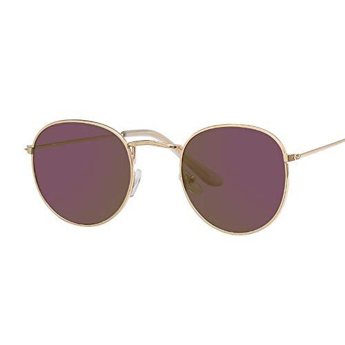 Sonnenbrille Kleine Retro Runde Sonnenbrille Frauen Gold Lila Designer Vintage Sonnenbrillen Für Männer Brillen Luxus Spiegel Ray Gläser