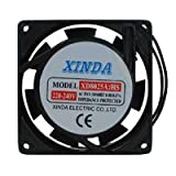 PC Computer Ventilator XINDA Axiallüfter Axial Lüfter 230 V AC 80 x 80 x 25 mm Lüftung 8 x 8 x 2,5 cm