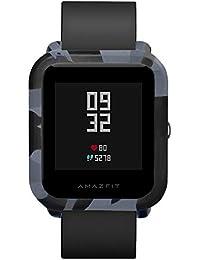 Hongtianyuan Funda Protectora de Silicona para Huami Mi Smartwatch Youth Edition, Deporte Suave Silicona Accesorios Reloj Banda Wirstband para Huami Amazfit Bip Watch (Camuflaje Gris)
