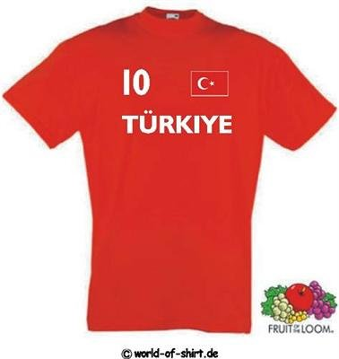 world-of-shirt Herren T-Shirt Türkei / Turkey im Trikot Look