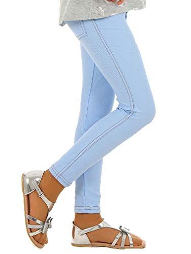 Dykmod Mädchen Frühling Leggings Leggins Jeans-Optik Look hk135 128 Hellblau -