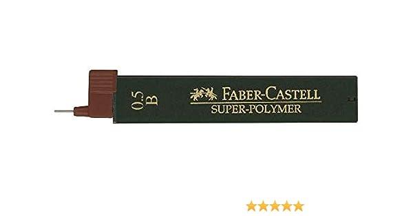 FABER-CASTELL Druckbleistift-Minen Feinminen 0,5 mm B Super-Polymer 9065 S-B