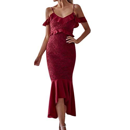 Vestido Mujer Fiesta ZARLLE Vestido ceñido de Corte para Mujer, Vestido de...