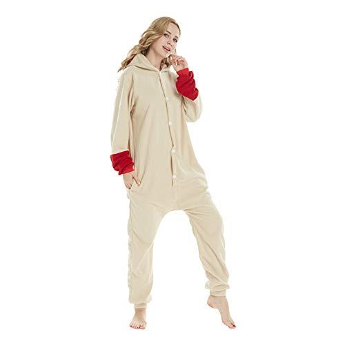 YLOVOW Jumpsuit Kigurumi Tier Cartoon Pyjama Overall Kostüm Sleepsuit Cosplay Animal Sleepwear Für Männer/Frauen,L