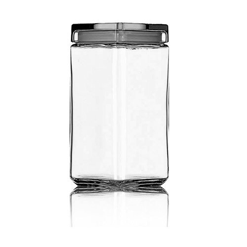 Anchor Hocking 85589R 1.9 Litre Large Square Storage Jar with Lid by Anchor Hocking - Square Storage Jar