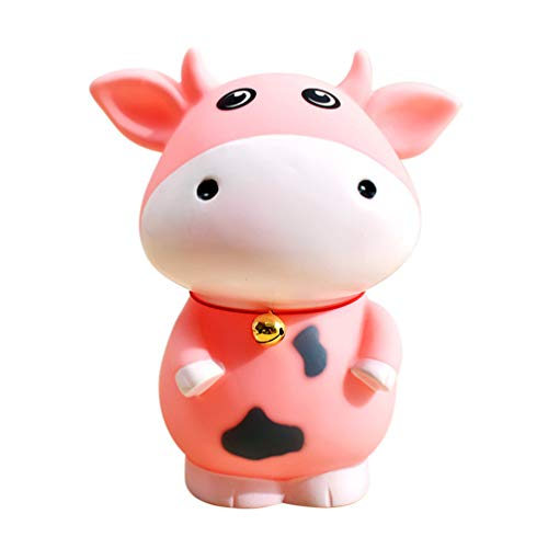 LIOOBO 1 pc niños Lindo Vaca Dibujos Animados Banco