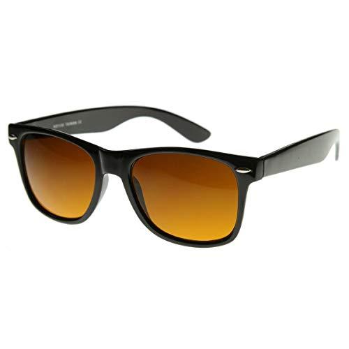 Kiss Sonnenbrille BLUE BLOCKER mod. BLUES BROTHERS - gelben Gläsern vs. Licht Blau VINTAGE mann frau NERD - SCHWARZ
