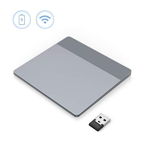 VOGEK Wireless Trackpad, 2,4 GHz Touchpad mit Nano Empfänger Wiederaufladbar für Linux, Windows 7 Windows 8 Windows 10, Notebook, PC, Laptop