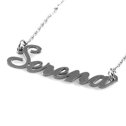 amorili Halskette mit namen serena aus rostfreiem stahl hypoallergen nickel free lange cm 50 - cll0882