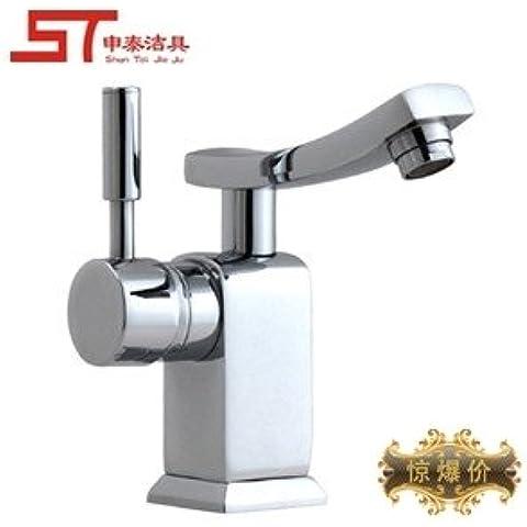 bfdgn semplice e resistente rame spazzolato tutti rame calda e fredda Miscelatore rubinetti 360lavabi Swing (Heater Hose Valve)