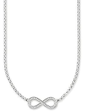 Thomas Sabo Damen-Collier 925 Silber Zirkonia