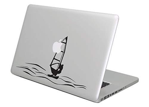 Pegatina Promotion Windsurfer auf dem Meer Windsurfing 30 cm Aufkleber Sticker Autoaufkleber Wandtattoo Surf Kite Surfen Wassersport Fun Sea