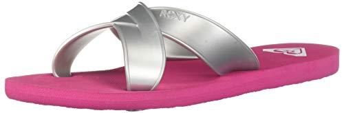 Roxy Damen Carilo Slide Sandalen, hot pink, 39 EU Hot Pink Slide