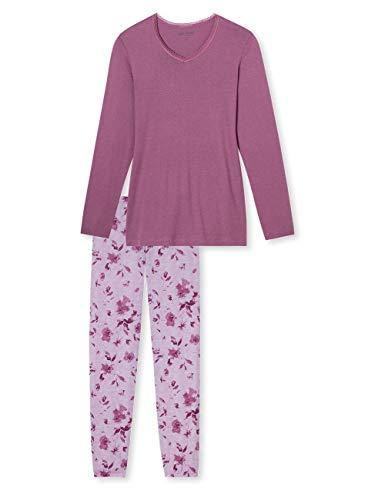 Schiesser Damen Zweiteiliger Schlafanzug Anzug lang, Lila (Malve 525), 40