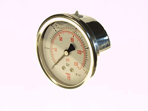 THERMIS Manometer 358G 1/4 Anschluss von hinten (0 - 10 bar) 63 mm -