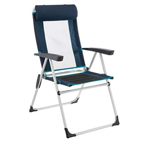 Fauteuils inclinables Fauteuil Pliant Confortable Inclinable Sports De Plein Air Chaise Paresseuse Chaise Confortable Respirante Chaise De Randonnée 110kg Camping (Color : Blue, Size : 86x58x10cm)