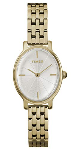 Timex Damen Analog Quarz Uhr mit Edelstahl Armband TW2R94100