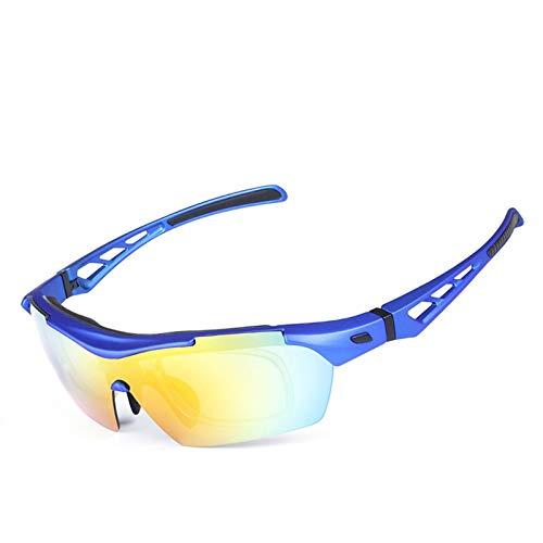 Lafeil Fahrradbrille Damen Damen Herren Polarisierte Sonnenbrillen Reitbrillen Outdoor Männer Und Frauen Sport Sandproof Goggles Blau (Blau Polarisierten Sonnenbrillen)
