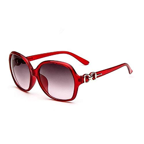 EUTUOPU Fashion Ladies Sunglasses Driving Glasses Large Frame Polarized Sunglasses UV400 Protection Colors Mirrors Portable Beach Eyewear Sunshine Glasses (Red 2)