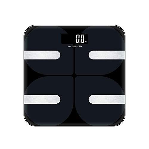 Körperfettwaage, Bluetooth Personenwaage USB Wiederaufladbare Körperanalysewaage mit APP, Smart Körperwaage für Körperfett, BMI, Gewicht, Muskelmasse, Wasser, Protein usw