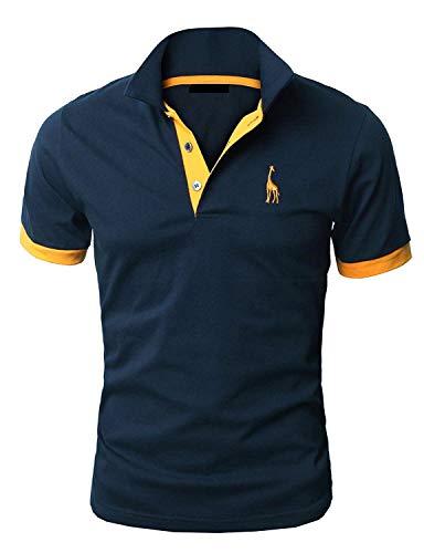 1ae60cdb16 YIPIN Hombre Polo de Manga Corta Bordado de Ciervo Deporte Golf Camisa  Poloshirt Negocios Camiseta de