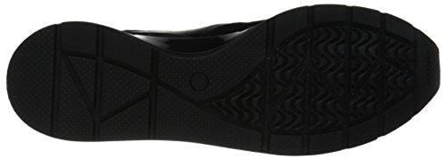 Geox Damen D Shahira A Sneakers Schwarz (blackc9999)
