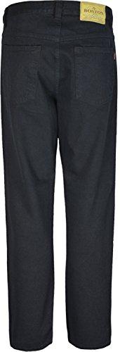 Heavy Duty Herren Jeans Hose, Innenbeinlänge: 79 cm großen Größen 29 bis 66 Schwarz - Schwarz