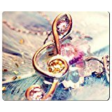 3D Colorful Music Notes G-Clef Mouse Pad Rectangle At Colored Cases Store