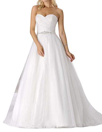 Jaeden donna abiti da sposa lungo vestite di sposa a-line abito da sposa senza spalline avorio eur42