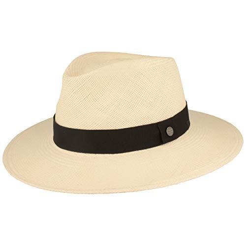 Stroh-Hut | Sommer-Hut aus Ecuador - Carlos - Handgeflochten, UV-Schutz 50+, Bruchschutz - Weiß - L (58/59) ()