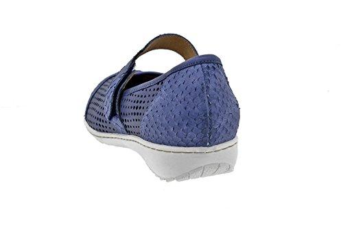 Scarpe donna comfort pelle Piesanto 8756 classiche basse soletta estraibile comfort larghezza speciale Marino