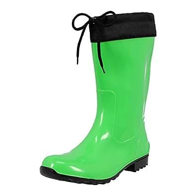 KREXUS 17 Damen Gummistiefel PVC Regenschuhe Regenstiefel Viele Farben
