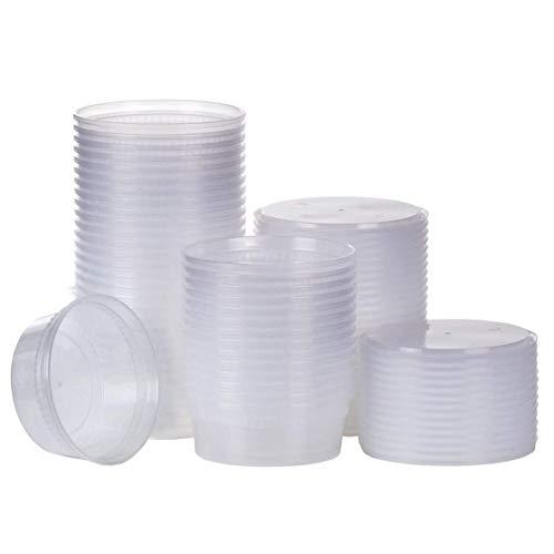 (Swallowzy 20pack 12oz Kleine Plastikbehälter mit Deckel - Gefrierschrankbehälter Deli Behälter mit D)