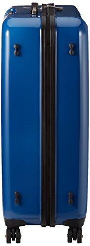 314xrt2VrlL - Calvin Klein - Maleta tip trolley con reudas, 80 cm, 110 L, Azul