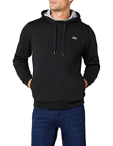 sports shoes 7b94b 7766f Lacoste SH2128 Herren Sport Sweatshirt , Schwarz (Noir/Argent Chine),  Medium (Herstellergröße: 4)