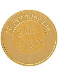 Aucent by PC Jeweller 5 grams 24k (995) Yellow Gold Laxmi Ganesh Precious Coin