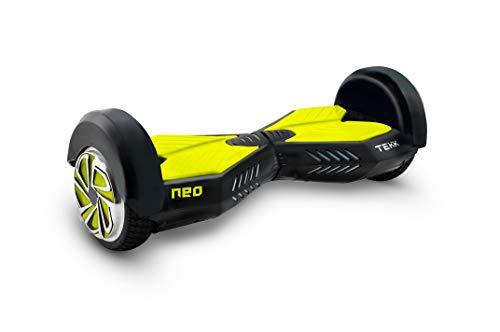 """Itekk Hoverboard 8'' Neo con Bluetooth, Assicurazione AXA """"Tutela Famiglia"""" inclusa, Giallo Fluo"""